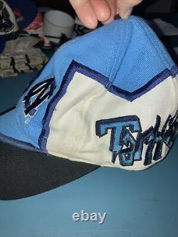 Unc North Carolina Tar Talons Tow Graffiti Snapback Chapeau De Baseball Top Of World 90s