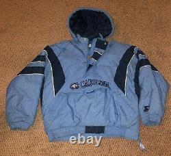 Unc Starter Jacket Coat Size XL Vtg Vintage Coat Tar Heels Caroline Du Nord