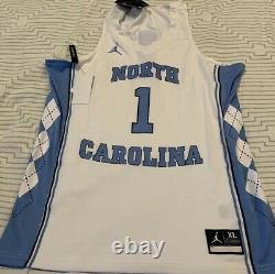 Unc Tar Heels Nike Air Jordan #1 Basketball Jersey Jumpman Logo Size XL Blanc