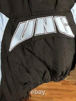 Unc Tarheels Starter 7 Fois Champion Black Half Zip Pull Over Hooded Jacket