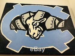 Université Originale De Caroline Du Nord Talons Unc Tar Peinture À L'huile 2003 -ben Zanon