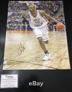Vince Carter A Signé 16x20 Unc Tar Heels Nets, Raptors Fanatics Coa