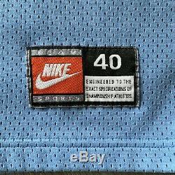 Vince Carter Authentique 40 M Nike North Carolina Tar Heels Jersey Unc 90 Vintage