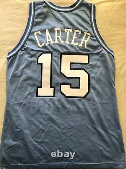 Vince Carter Unc Tar Heels 1995 1996 Freshman Authentique Champion Maillot Cousu