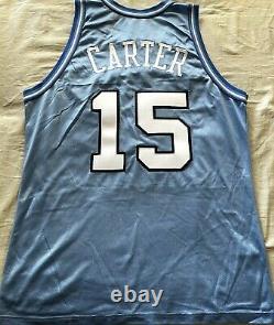 Vince Carter Unc Tar Talons 1995 1996 Freshman Authentique Jersey Cousu Champion