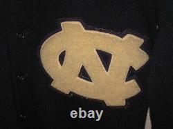 Vintage 1945 Mens Université Unc North Carolina Tar Heels Letterman Pull Rare