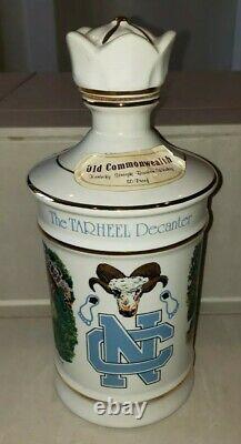 Vintage 1979 Unc Caroline Du Nord Tarheels Old Commonwealth Collectors Decanter