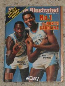 Vintage 1983 Sports Illustrated Unc Tar Heels Michael Jordan 1st Cover Pas D'étiquette