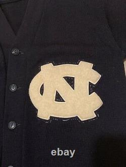 Vintage 50s 60s Unc North Carolina Tar Heels Varsity Letter Cardigan