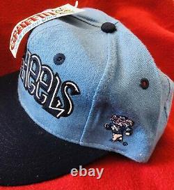 Vintage 90 De Tow Unc Tarheels Snapback Hat Logo 3d Go Graffiti Lts Color Team Wo
