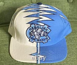 Vintage 90s Caroline Du Nord Starter Tarheels Whiteside Ws Shockwave Hat Rare Unc