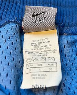 Vintage 90s Mens Large Nike Ncaa North Carolina University Unc Tar Heels Shorts