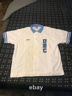 Vintage 90s Nike Team A Publié Unc Tar Talons Basketball Chaud Vers Le Haut Chemise Hommes Sz XL
