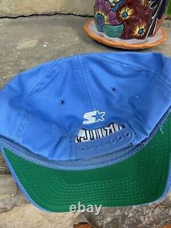 Vintage 90s Starter University Of North Carolina Unc Tarheels Hat Snapback