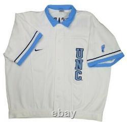 Vintage 90s Unc Tar Talons Nike Warm Up Shooting Jersey Chemise XXL Ncaa Basketball