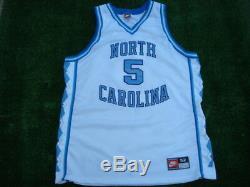 Vintage Authentique Nike Unc Tar Heels En Caroline Du Nord Ed Cota # 5 White Jersey 52