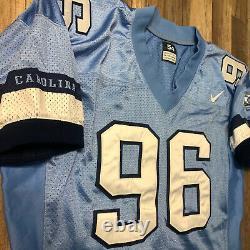 Vintage Game Used Nike North Carolina Tar Heels Unc #96 Football Jersey Taille 54