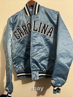 Vintage Mens Starter North Carolina Tar Heels Satin Jacket Taille Petit Unc