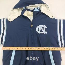 Vintage Ncaa Pro Player Unc Carolina Tar Heels Reversible Hooded Jacket Adult L