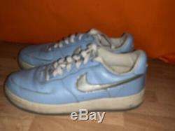Vintage Nike Air Force 1 Unc Tarheels Bleu Michael Jordan Shoes Taille 8 Sj17j15