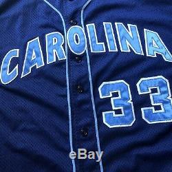Vintage Nike Team North Carolina Unc Tar Talons Jeu Jersey De Baseball Usé Sz 56