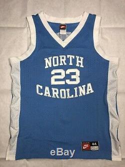 Vintage Nike Unc Caroline Du Nord Tar Heels Michael Jordan Authentique Jersey Sz. 44