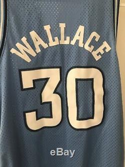Vintage Nike Unc En Caroline Du Nord Tar Heels Rasheed Wallace Jersey XXL 2xl Euc