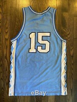 Vintage Nike Vince Carter # 15 Unc Caroline Du Nord Tar Heels Jersey Medium 40 M