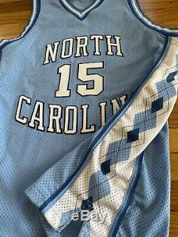 Vintage Nike Vince Carter 15 Unc Caroline Du Nord Tar Heels Jersey Sz. 44 Équipe