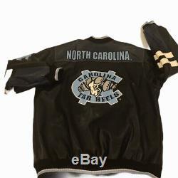 Vintage North Carolina Tar Heels Veste En Cuir Unc Giii Sports Par Carl Banks XL
