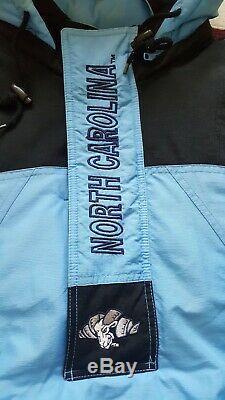 Vintage Starter Unc North Carolina Tar Heels Half Zip Pull Veste Grand