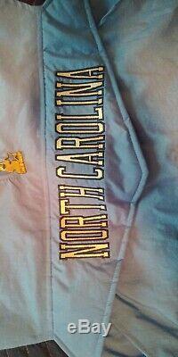 Vintage Starter Unc North Carolina Tar Talons 1/2 Zip Pullover Jacket Taille L