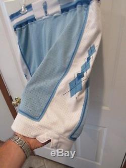 Vintage Unc Caroline Du Nord Tar Heels Delong Ncaa Basketball Shorts Jersey Sz 34