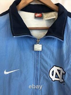 Vintage Unc Nike Jacket Taille L North Carolina Tarheels Windbreaker Team Sports