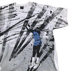 Vintage Unc North Carolina Tar Heels Michael Jordan All Over Print Shirt Mens XL