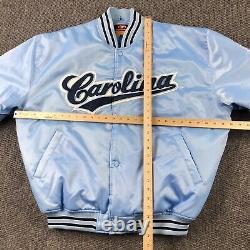Vintage Unc North Carolina Tar Talons Varsity Satin Bomber Jacket XXL 2xl, Y2k