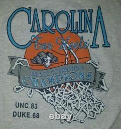 Vintage Unc Tarheels Ringer Shirt XL Championship 1998 Basket-ball