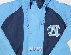 Vintage Unc Univ. North Carolina Tarheels Starter Puffer Veste À Capuche Taille M/l