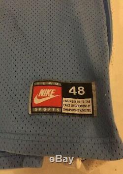 Vrai Vtg Années 80 Nike Made USA North Carolina Tar Heels Kenny Smith XL Unc Jersey 30