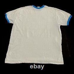 Vtg 1982 Heels North Carolina Tar Unc Champion National T Shirt Ras Du Cou L Jordan
