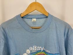 Vtg 1982 Heels North Carolina Tar Unc Thin National Champions 50/50 T-shirt XL