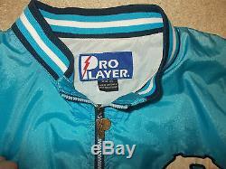 Vtg-1990 Caroline Du Nord Unc Tar Heels Pro Player Coupe-vent Demi-zip En Nylon XXL