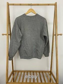 Vtg 60s Unc Carolina Tar Heels Tri-blend Crewneck Sweatshirt Size L Etats-unis
