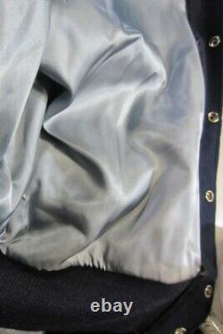 Vtg 70's Authentic Rare North Carolina Tar Heels Varsity Leather Wool Jacket Unc
