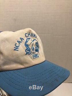 Vtg 80s 1982 Université De Caroline Du Nord Unc Carolina Chapeaux Chapeau Snapback