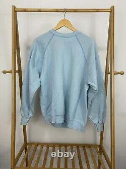 Vtg 80s Unc Tar Heels Rameses Big Graphic Soft Tultex Raglan Sweatshirt XL Etats-unis