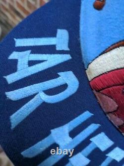 Vtg 90s Caroline Du Nord Unc Talons De Goudron Tasmanien Taz Devil Snapback Hat Grand Logo