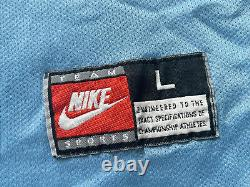 Vtg 90s Grande Nike Unc Caroline Du Nord Tar Talons Pratique Réversible Jersey Mj