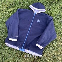 Vtg 90s Reebok Caroline Du Nord Unc Tar Heels Puffer Reversible Jacket XL Jordanie