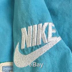 Vtg Années 90 Rare Nike Gray Talons Taroudés Unc Chemise Jersey Baseball Homme Bleu
